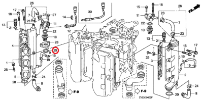 Кольцо o-ring Honda 91356-SD4-952